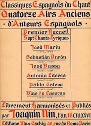 14 airs anciens d'auteurs espagnols