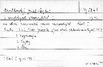 Šest mužských čtverozpěvů                         (Část I.)