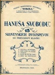 15 slovenských dvojspevov so sprievodom klavíru