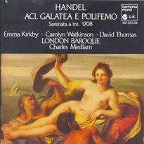Aci, Galatea e Polifemo; Sonates pour flute a bec et basse continue en Fa majeur op. 1 no. 11, e n Do majeur op. 1 no. 7, en Sol majeur trans. en Fa