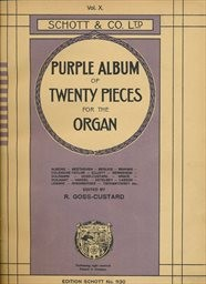 Purple album of twenty pieces for the organ