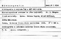 Bibliografie k dějinám ČSR a KSČ 1917-1938