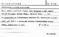 Středočeský sborník historický                         (Sv. 6)