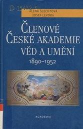 Členové České akademie věd a umění 1890-1952