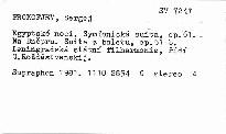 Egyptské noci, op. 61. Na Dněpru, op. 51b