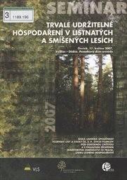Trvale udržitelné hospodaření v listnatých a smíšených lesích