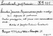 Sanctus Joannes Nepomucenus, proto martyr, justi defensor et patronus, oratio panegeryca, sub primo suae canonozationis seculo, in ecclesia ejustdem nomini Pragae novae in Skalka dicta