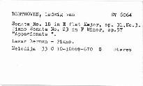 Piano sonatas no. 18, 23