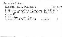 Acht grosse Suiten für Cembalo nr. 1-6