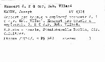 Violinkonzerte Hob. VIIa:1, Hob. VIIa:4