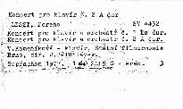Koncerty pro klavír č. 1 Es dur, č. 2 A dur