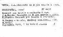 Koncerty pro housle a orchestr Mysliveček, Benda