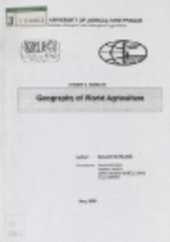 Geography of world agriculture