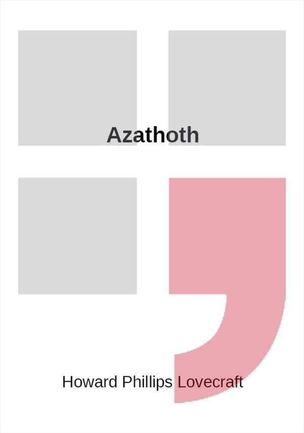 Azathoth                                , Lovecraft, Howard Phillips