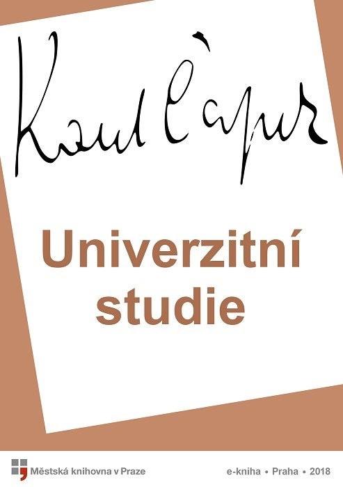 Univerzitní studie                      , Čapek, Karel