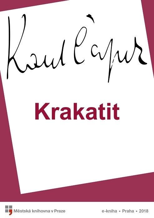 Krakatit                                , Čapek, Karel